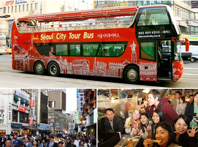 Seoul City Tour Bus goes traditional markets