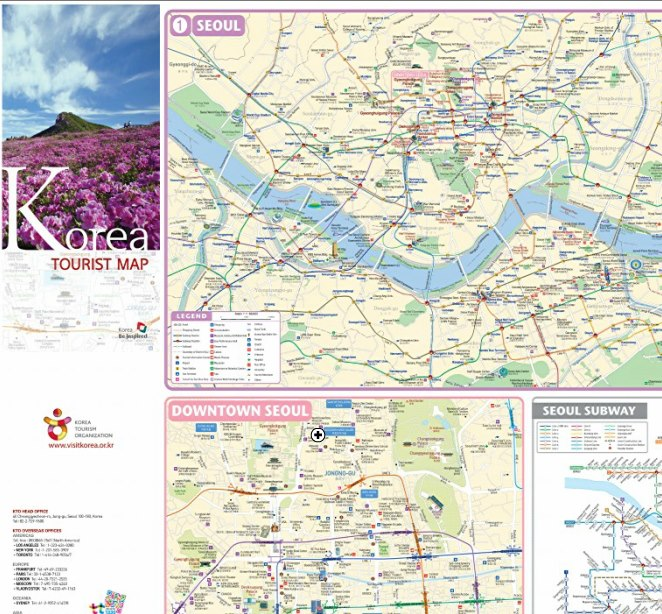 Download Korea Tourist Map!