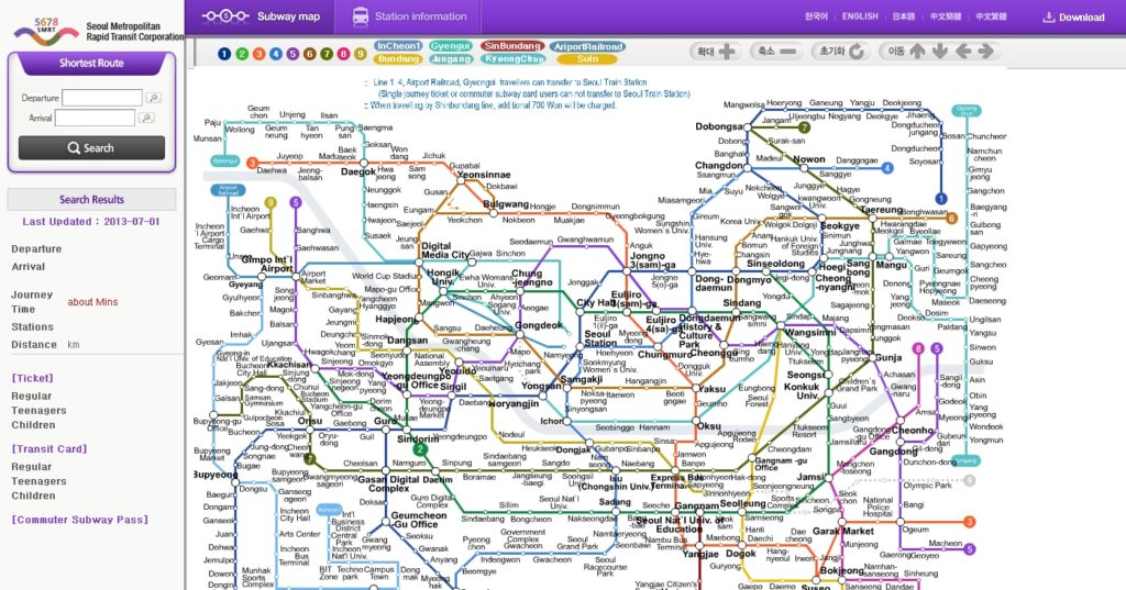 Best Seoul Subway Map Triptoday Anyone Can Travel To Korea