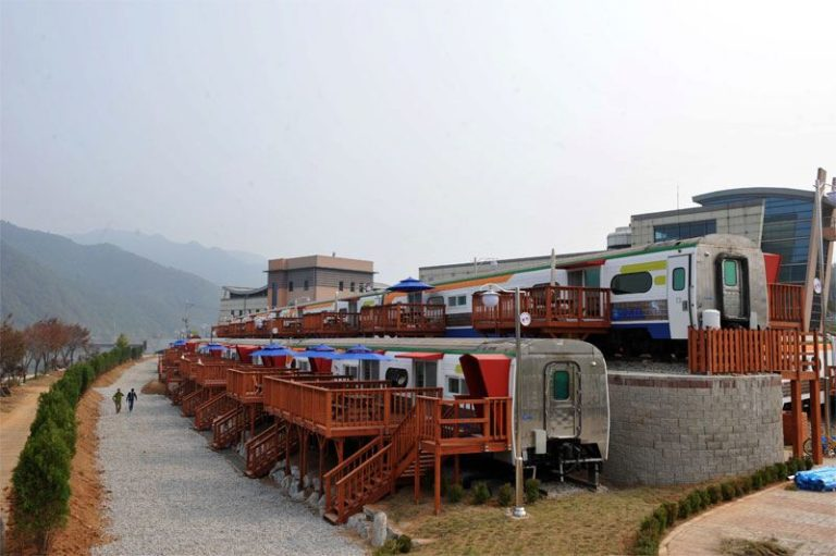 [Accommodation Highlight]   Train pension house in Korea