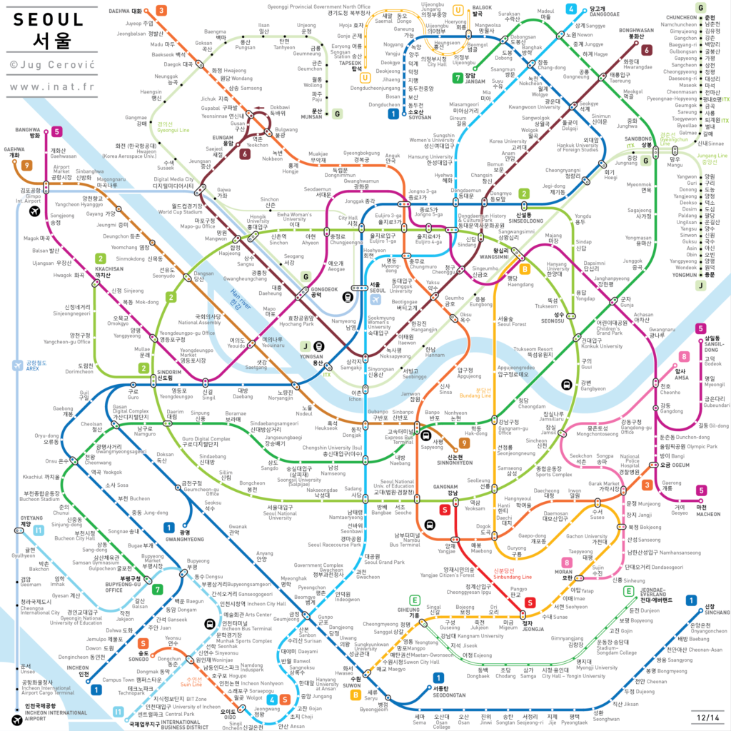 Eoul Subway Map.Upgraded Seoul Subway Metro Map Triptoday