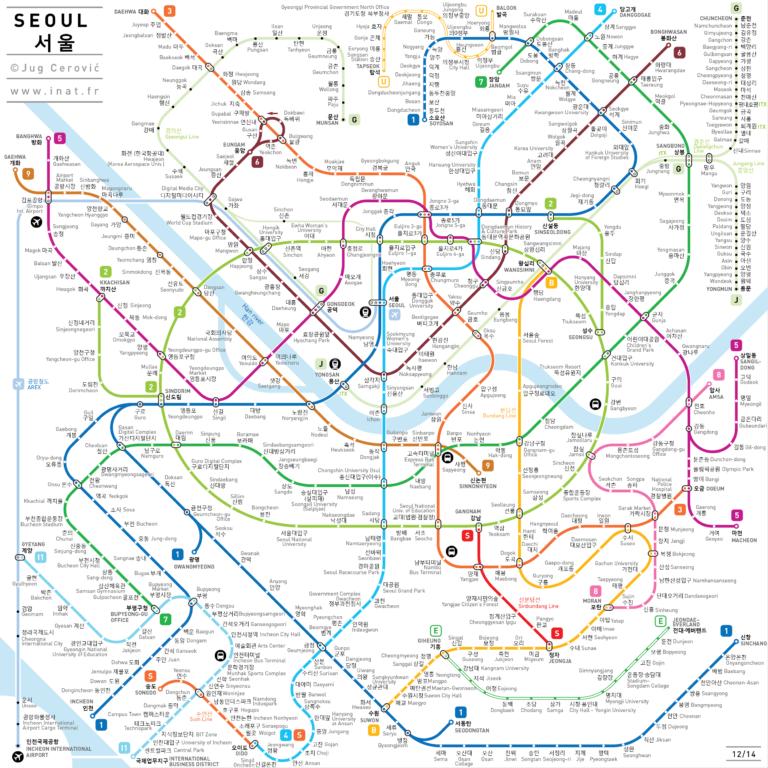 Upgraded Seoul subway(metro) MAP