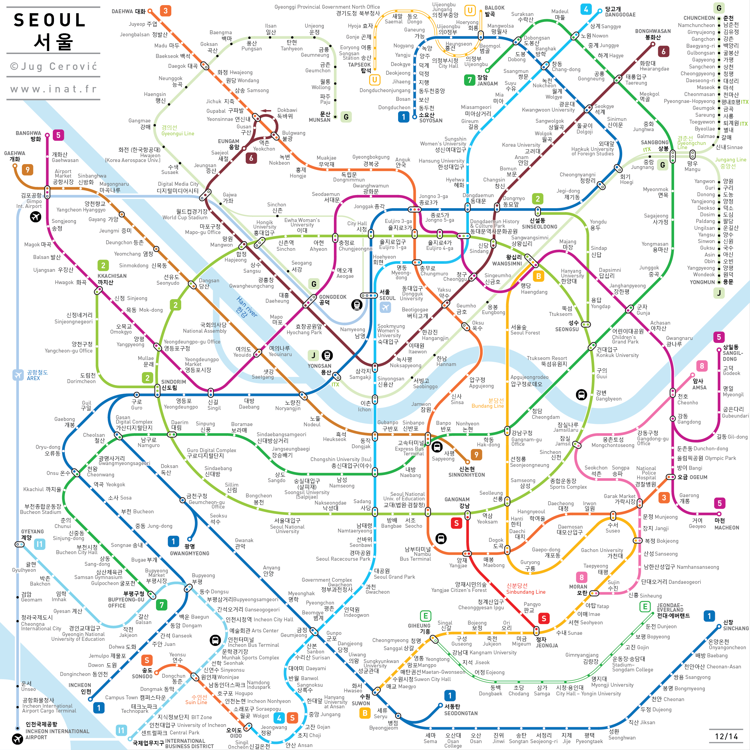 Seoul Metro Subway Map