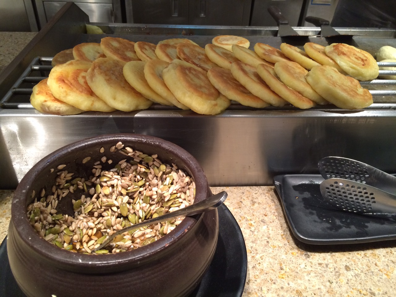 'Hotteok' sweet local street food in Korea