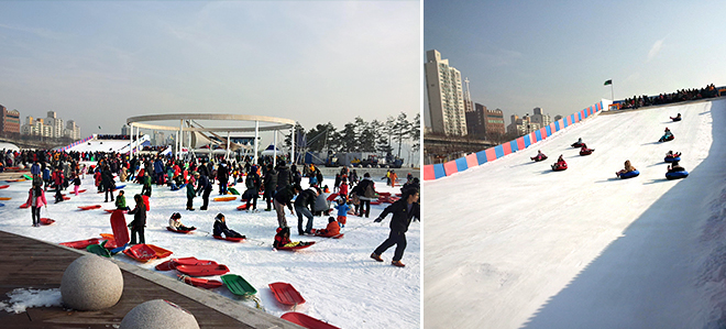 ttukseom ice sledding