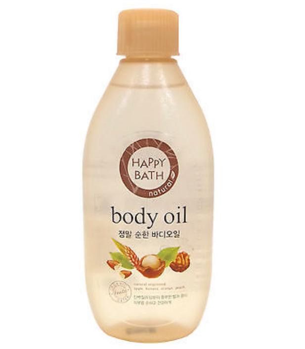 body oil happy bath