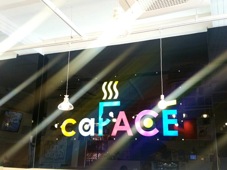 Get Your Selfie Latte at caFACE, Hongdae!