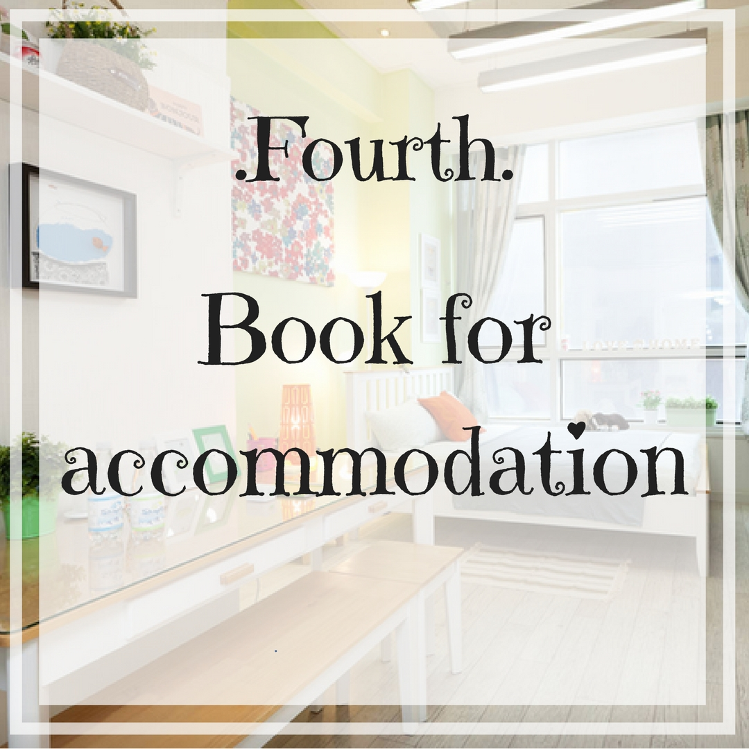 Book for accommodation