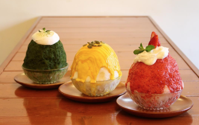 Popular bingsoo cafes in Mapo-area