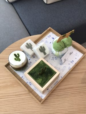 DAILY OASIS, a matcha cafe in Bokjeong