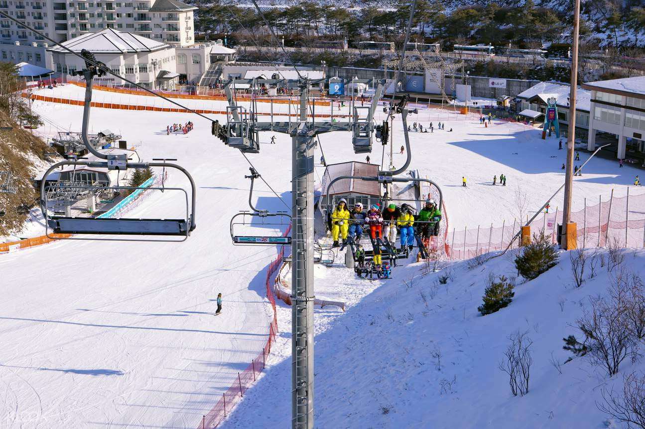 elysian gangchon ski snowboard lesson shuttle bus package