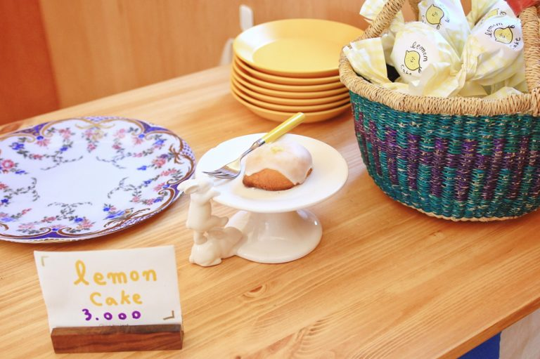 A popular lemon cake on the SNS recently- Cafe Skön in Yeonnam-dong