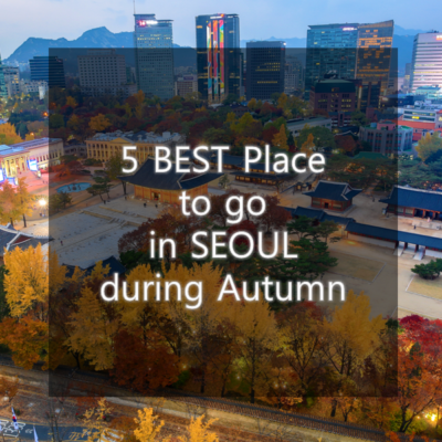 Best 5 places to enjoy beautiful Autumn Foliage in SEOUL.